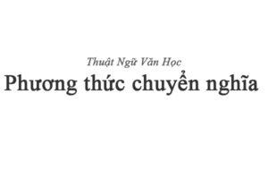 Phương thức chuyển nghĩa, phuong thuc chuyen nghia